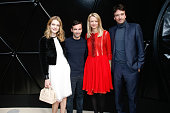 Model Natalia Vodianova Fashion Designer Nicolas Ghesquiere Louis Vuitton's executive vice president Delphine Arnault and General manager of Berluti...