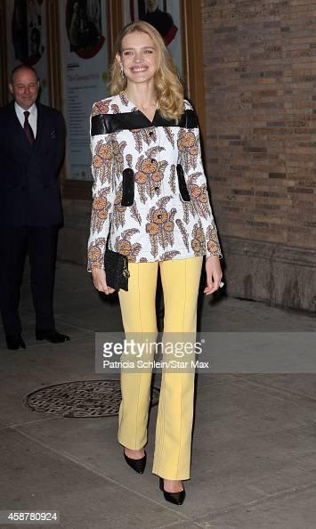 Model Natalia Vodianova is seen on November 10 2014 in New York City