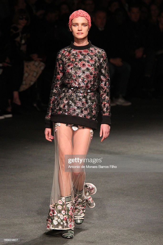 Model Natalia Vodianova walks the runway during the Givenchy Fall/Winter 2013 Ready-to-Wear show as part of Paris Fashion Week on March 3, 2013 in Paris, France.