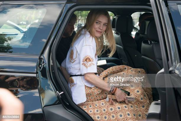 Model Natalia Vodianova wears Dior day 2 of Paris Haute Couture Fashion Week Autumn/Winter 2017 on July 3 2017 in Paris France