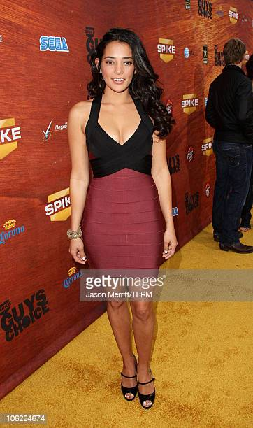 Model Natalie Martinez arrives to Spike TV's 2nd Annual 'Guys Choice' Awards at Sony Studios on May 30 2008 in Culver City California