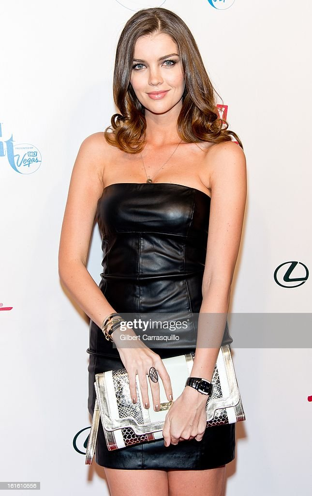 Model Natasha Barnard attends Sports Illustrated Swimsuit Launch Party at Crimson on February 12, 2013 in New York City.