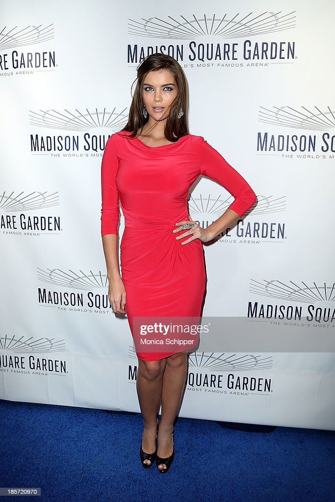 Model Natasha Barnard attends the unveiling of Madison Square Garden on October 24, 2013 in New York City.