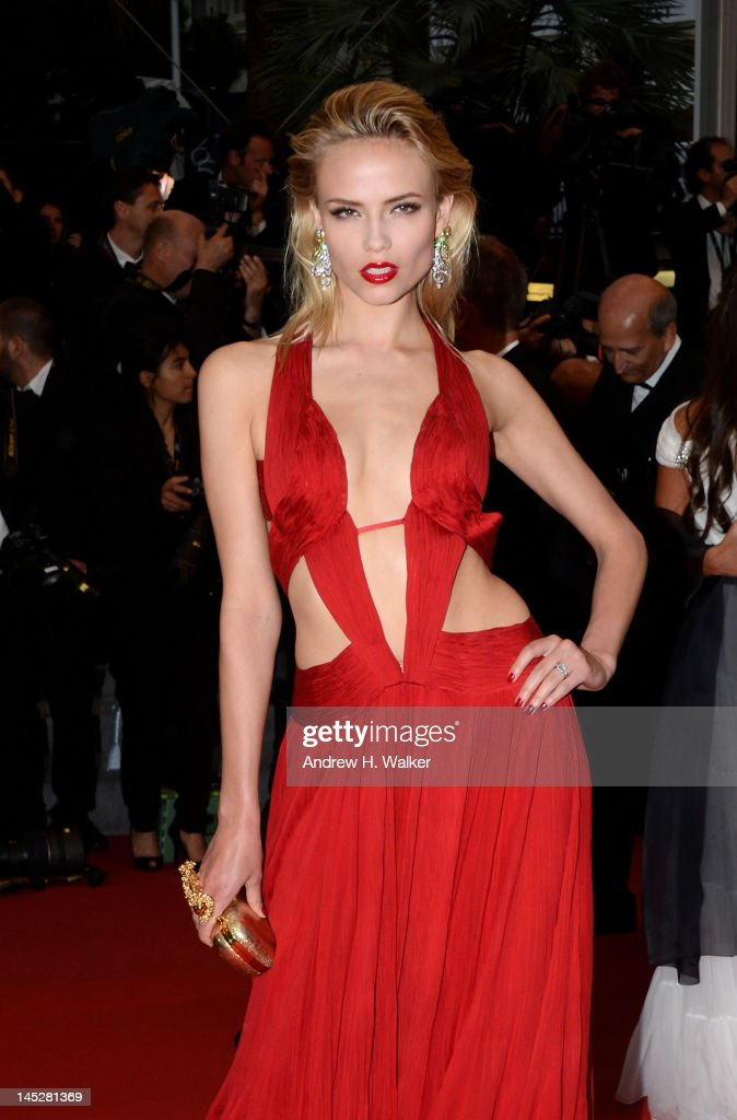 Model Natasha Poly and guest attends the 'Cosmopolis' premiere during the 65th Annual Cannes Film Festival at Palais des Festivals on May 25 2012 in...