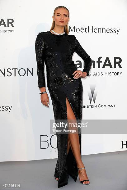 Model Natasha Poly attends amfAR's 22nd Cinema Against AIDS Gala Presented By Bold Films And Harry Winston at Hotel du CapEdenRoc on May 21 2015 in...