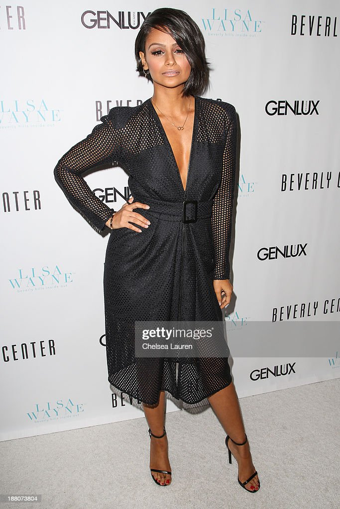 Model Nazanin Mandi arrives at the Genlux new issue launch party hosted by Lisa Vanderpump on November 14, 2013 in Beverly Hills, California.