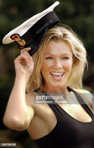 Model Nell McAndrew poses for the cameras at County Hall in Ayr to help launch the Gulf Heroes Calendar 2004 which it is hoped will raise 25000 for...