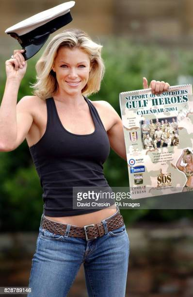 Model Nell McAndrew poses with the Gulf Heroes Calendar 2004 at County Hall in Ayr at the launch of the calendar which it is hoped will raise 25000...