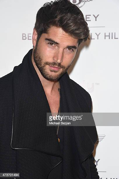 Model Nick Bateman arrives at Karma International's Black White Bentley Affair Featuring Michael Costello at Bentley Beverly Hills on May 16 2015 in...