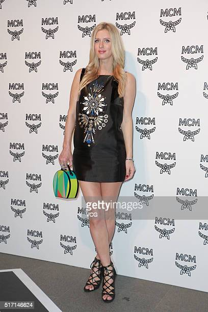 Model Nicky Hilton attends a party of MCM Flagship Store on March 23 2016 in Hong Kong China