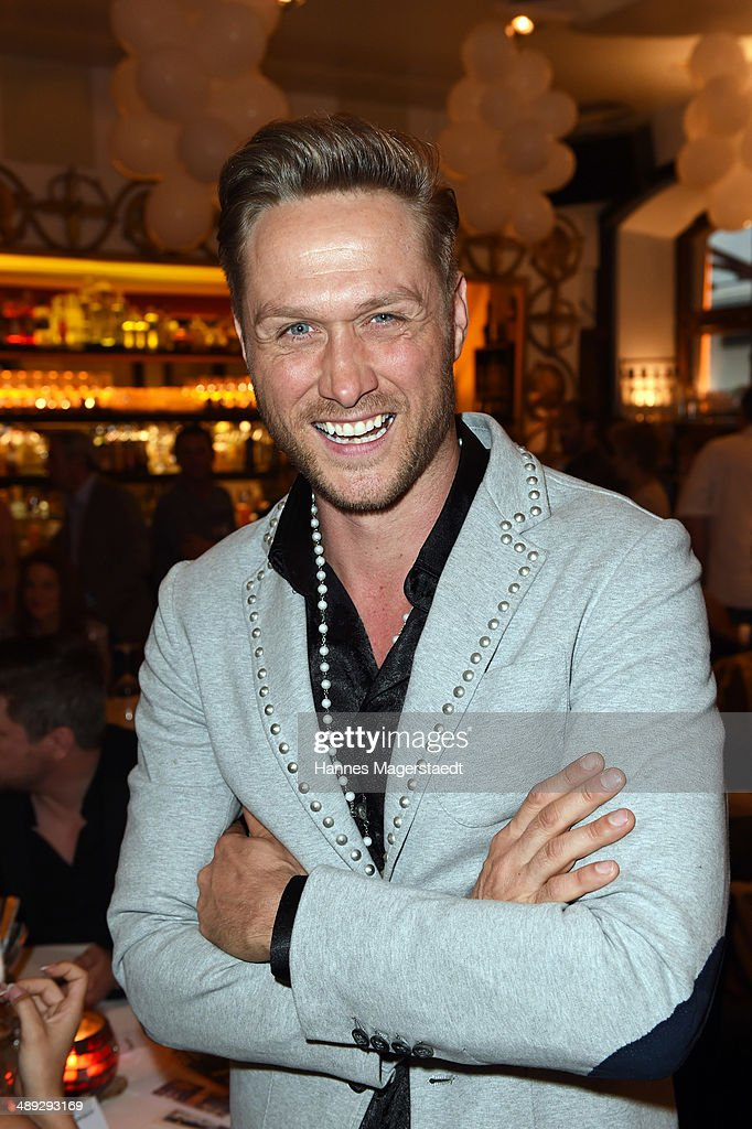 Model Nico Schwanz attends 9 Years Anniversary Bachmaier Hofbraeu at Bachmaier Hofbraeu on May 10, 2014 in Munich, Germany.