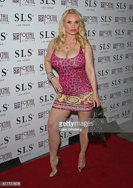 Model Nicole 'Coco' Austin attends her birthday party at Foxtail Nightclub at SLS Las Vegas on March 27 2016 in Las Vegas Nevada