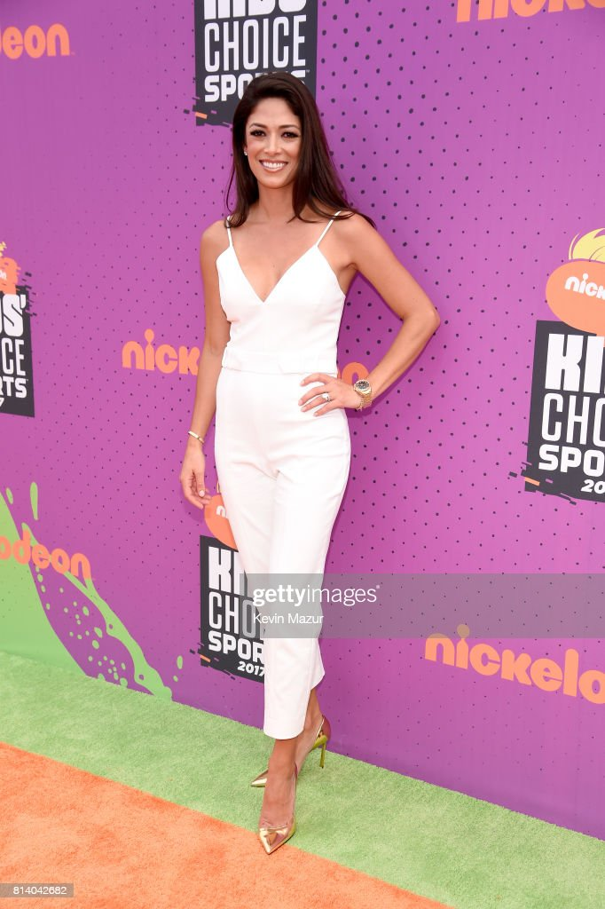 Model Nicole Johnson attends Nickelodeon Kids' Choice Sports Awards 2017 at Pauley Pavilion on July 13, 2017 in Los Angeles, California.