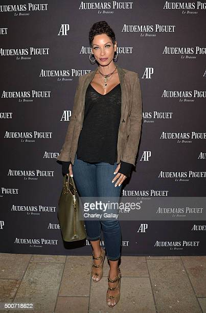 Model Nicole Mitchell Murphy attends the Opening of Audemars Piguet Rodeo Drive at Audemars Piguet on December 9 2015 in Beverly Hills California