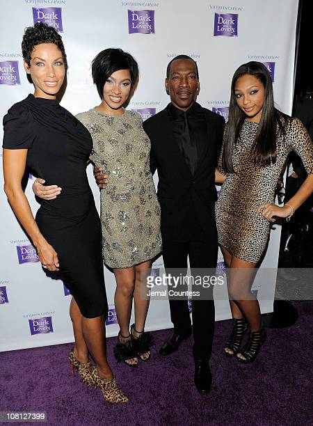 Model Nicole Murphy Model Bria Murphy Actor Eddie Murphy and Shayne Murphy attend the event where SoftSheenCarson Dark and Lovely Announces Model...