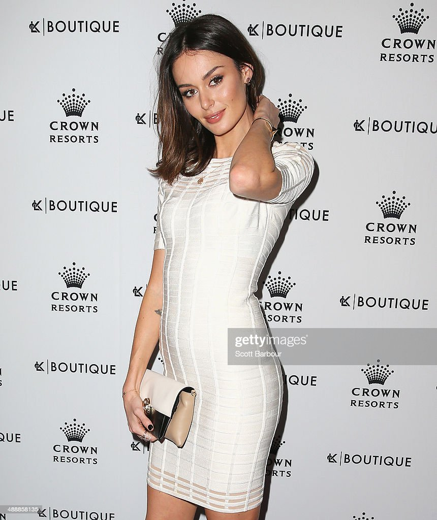 Model <a gi-track='captionPersonalityLinkClicked' href=/galleries/search?phrase=Nicole+Trunfio&family=editorial&specificpeople=3006654 ng-click='$event.stopPropagation()'>Nicole Trunfio</a> arrives at Crown's Celebrity Mother's Day Luncheon at Crown on May 9, 2014 in Melbourne, Australia.