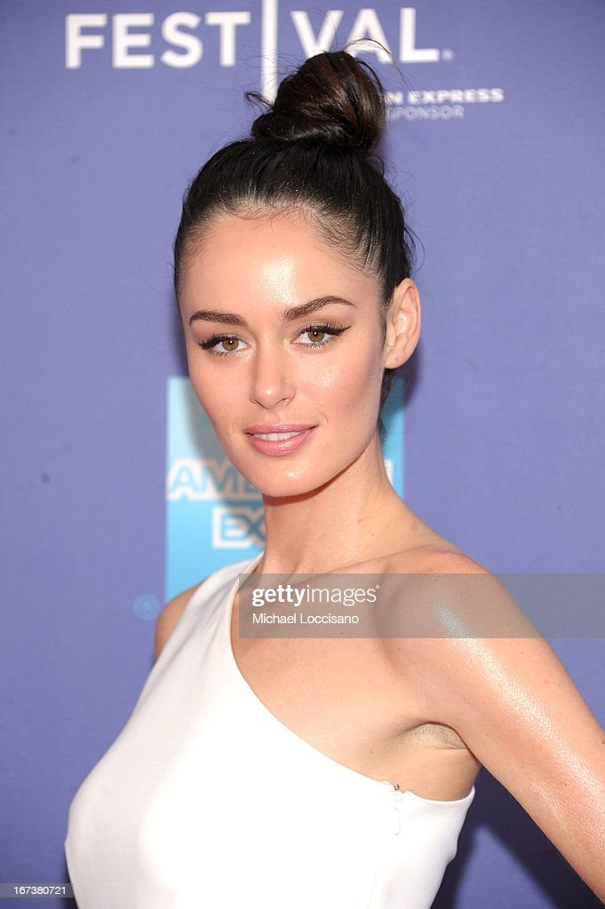 Model Nicole Trunfio attends HBO's 'The Battle of amfAR' premiere at Tribeca Film Festival on April 24, 2013 in New York City.