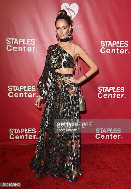 Model Nicole Trunfio attends the 2016 MusiCares Person of the Year honoring Lionel Richie at the Los Angeles Convention Center on February 13 2016 in...