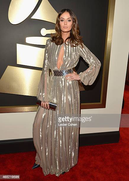 Model Nicole Trunfio attends the 56th GRAMMY Awards at Staples Center on January 26 2014 in Los Angeles California