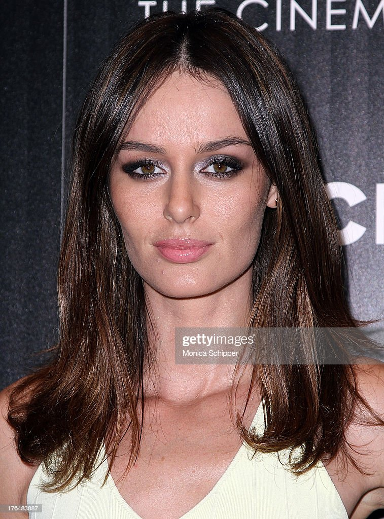 Model <a gi-track='captionPersonalityLinkClicked' href=/galleries/search?phrase=Nicole+Trunfio&family=editorial&specificpeople=3006654 ng-click='$event.stopPropagation()'>Nicole Trunfio</a> attends the Downtown Calvin Klein with The Cinema Society screening of IFC Films' 'Ain't Them Bodies Saints' at The Museum of Modern Art on August 13, 2013 in New York City.