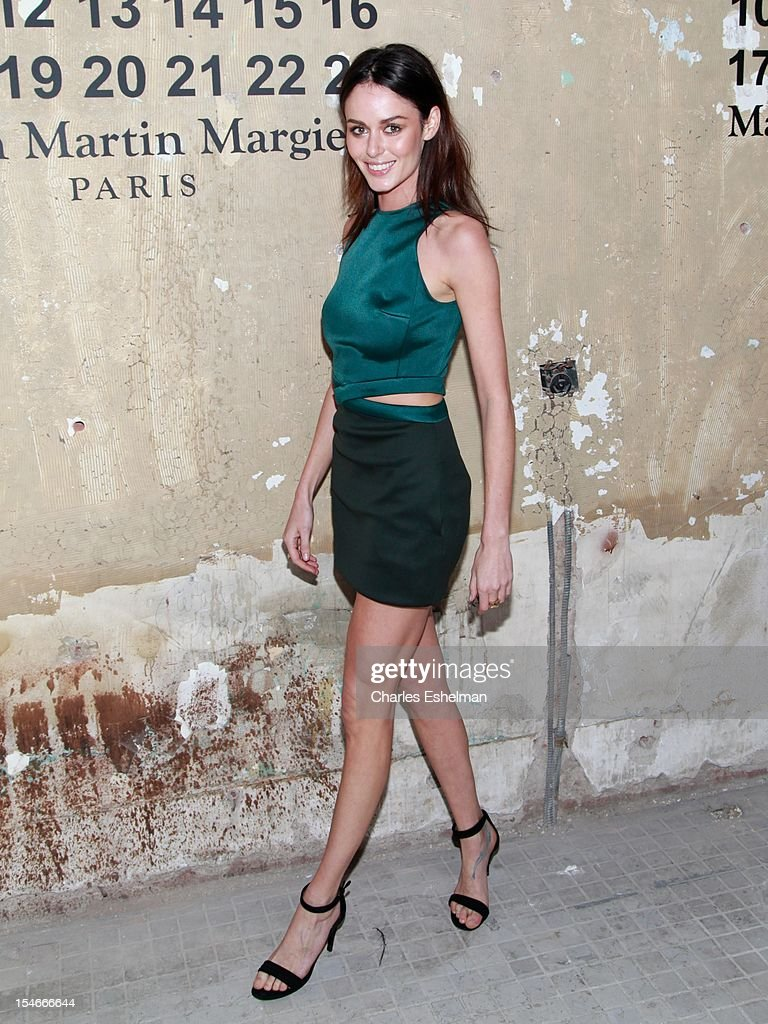 Model Nicole Trunfio attends the Maison Martin Margiela & H&M Global launch party at 5 Beekman on October 23, 2012 in New York City.