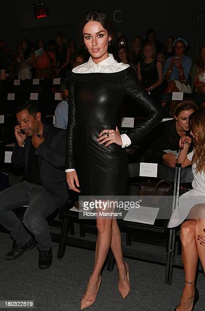 Model Nicole Trunfio attends the Rachel Zoe show during Spring 2014 MercedesBenz Fashion Week at The Studio at Lincoln Center on September 11 2013 in...