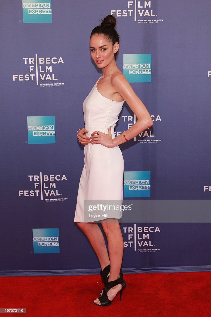 Model Nicole Trunfio attends the screening of 'Battle of amfAR' during the 2013 Tribeca Film Festival at SVA Theater on April 24, 2013 in New York City.