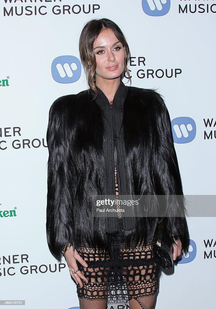 Model <a gi-track='captionPersonalityLinkClicked' href=/galleries/search?phrase=Nicole+Trunfio&family=editorial&specificpeople=3006654 ng-click='$event.stopPropagation()'>Nicole Trunfio</a> attends the Warner Music Group annual Grammy celebration at the Sunset Towers on January 26, 2014 in West Hollywood, California.