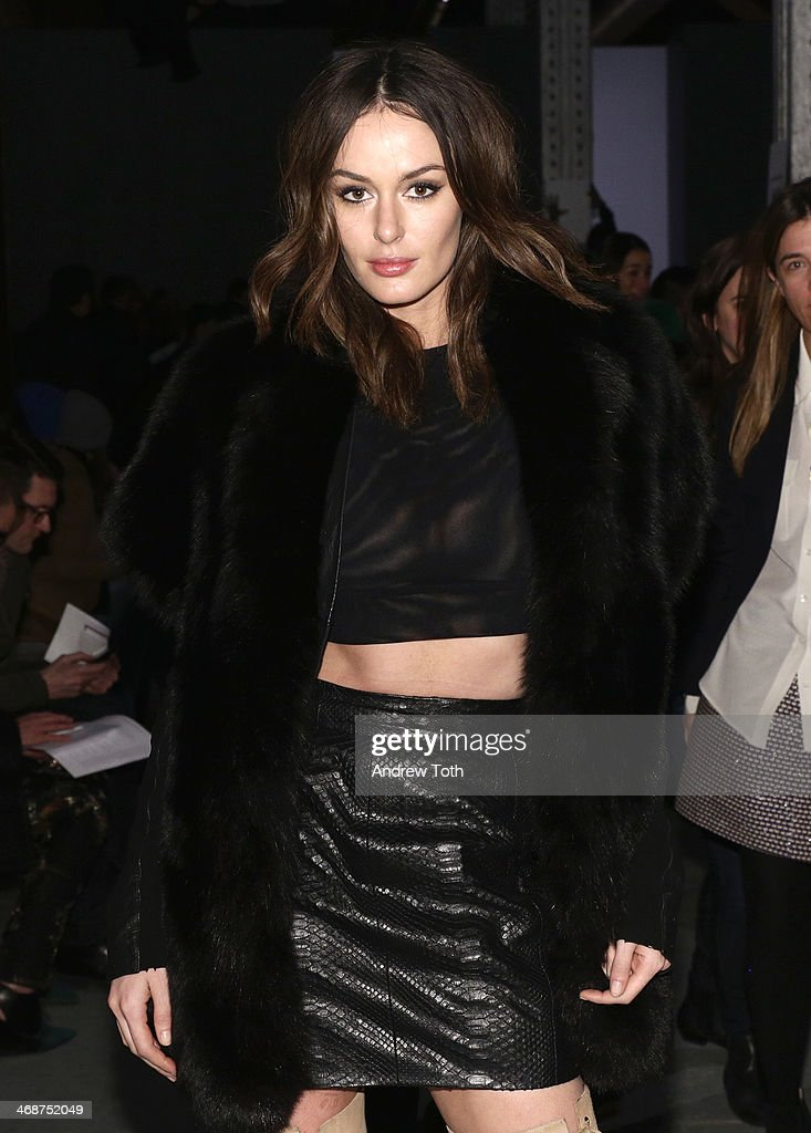 Model Nicole Trunfio attends the Wes Gordon fashion show during Mercedes-Benz Fashion Week Fall 2014 on February 11, 2014 in New York City.