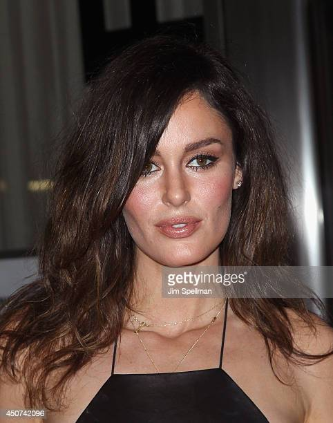 Model Nicole Trunfio attends the Yves Saint Laurent Couture Palette The Cinema Society premiere of The Weinstein Company's 'Yves Saint Laurent' at...