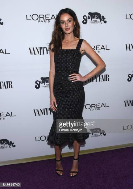Model Nicole Trunfio attends Vanity Fair and L'Oreal Paris Toast to Young Hollywood hosted by Dakota Johnson and Krista Smith at Delilah on February...