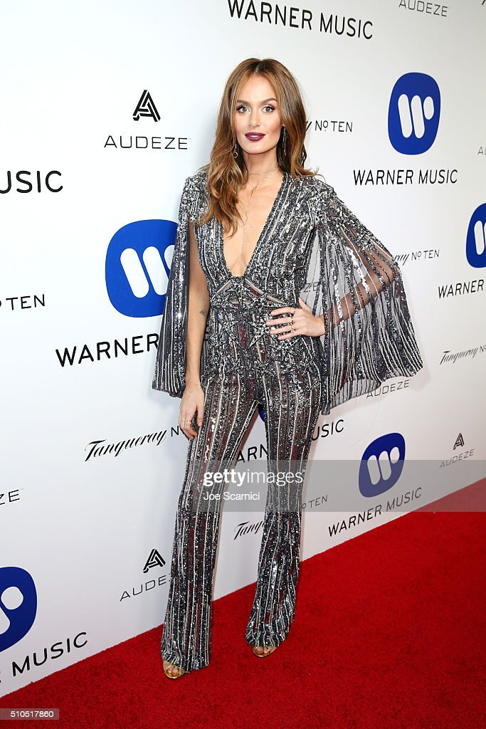 Warner Music Group Hosts Annual Grammy Celebration - Red Carpet