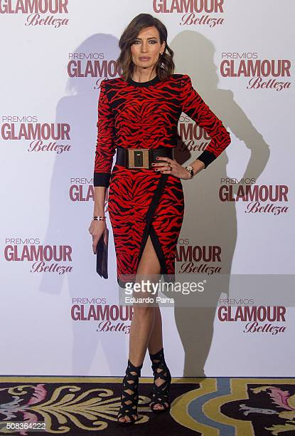 Model Nieves Alvarez attends 'Glamour Beauty' awards at Ritz Hotel on February 4 2016 in Madrid Spain