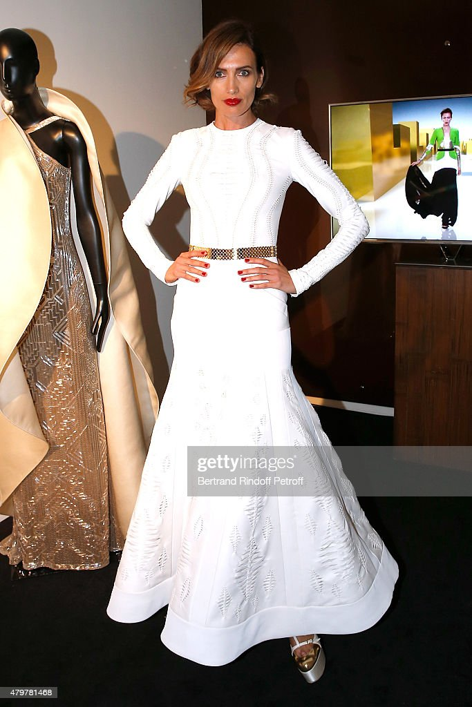 Model Nieves Alvarez attends the Stephane Rolland show as part of Paris Fashion Week Haute Couture Fall/Winter 2015/2016 on July 7 2015 in Paris...