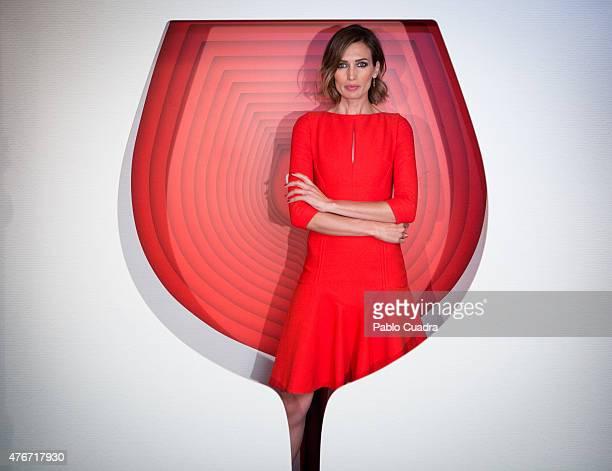 Model Nieves Alvarez presents Campari Red Suite at Hesperia Hotel on June 11 2015 in Madrid Spain
