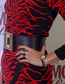 Model Nieves Alvarez rings detail attends 'Glamour Beauty' awards at Ritz Hotel on February 4 2016 in Madrid Spain