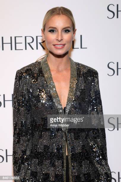 Model Niki Taylor attends the Sherri Hill NYFW SS18 runway show at Gotham Hall on September 12 2017 in New York City