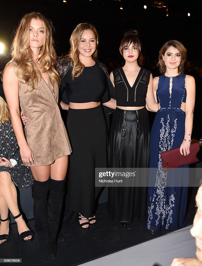 Model Nina Agdal and Actresses Abbie Cornish Bailee Madison and Sami Gayle attend the front row at the BCBGMAXAZRIA Fall 2016 show during New York...