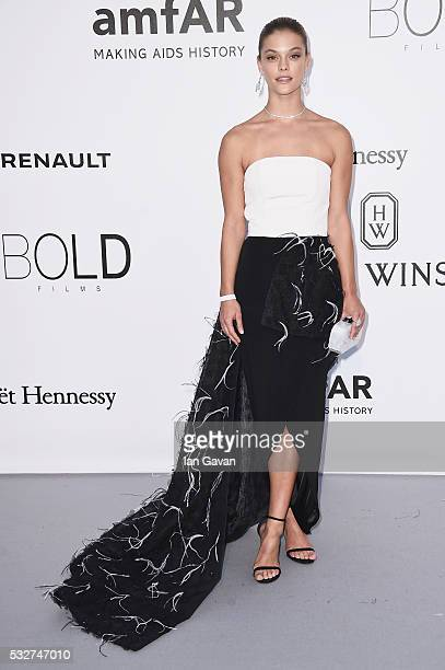 Model Nina Agdal arrives at amfAR's 23rd Cinema Against AIDS Gala at Hotel du CapEdenRoc on May 19 2016 in Cap d'Antibes France
