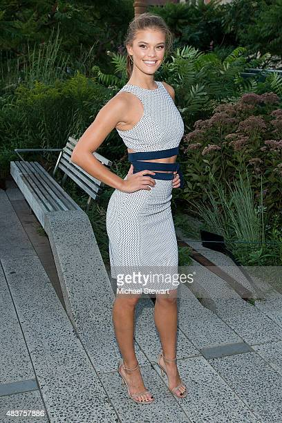 Model Nina Agdal arrives at People StyleWatch Fall Fashion Party on August 12 2015 in New York City