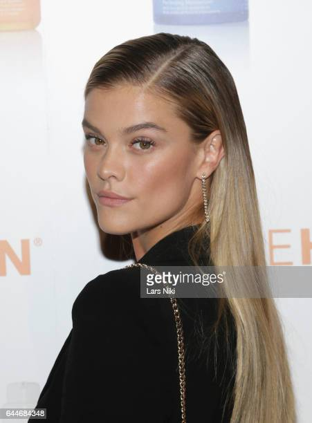 Model Nina Agdal attends as OleHenriksen celebrates brand relaunch at ArtBeam on February 23 2017 in New York City