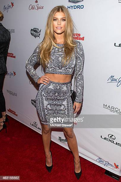 Model Nina Agdal attends the 2015 Sports Illustrated Swimsuit Issue celebration at Marquee on February 10 2015 in New York City