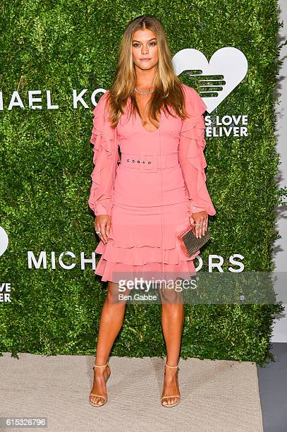 Model Nina Agdal attends the 2016 God's Love We Deliver Golden Heart Awards Dinner at Spring Studios on October 17 2016 in New York City