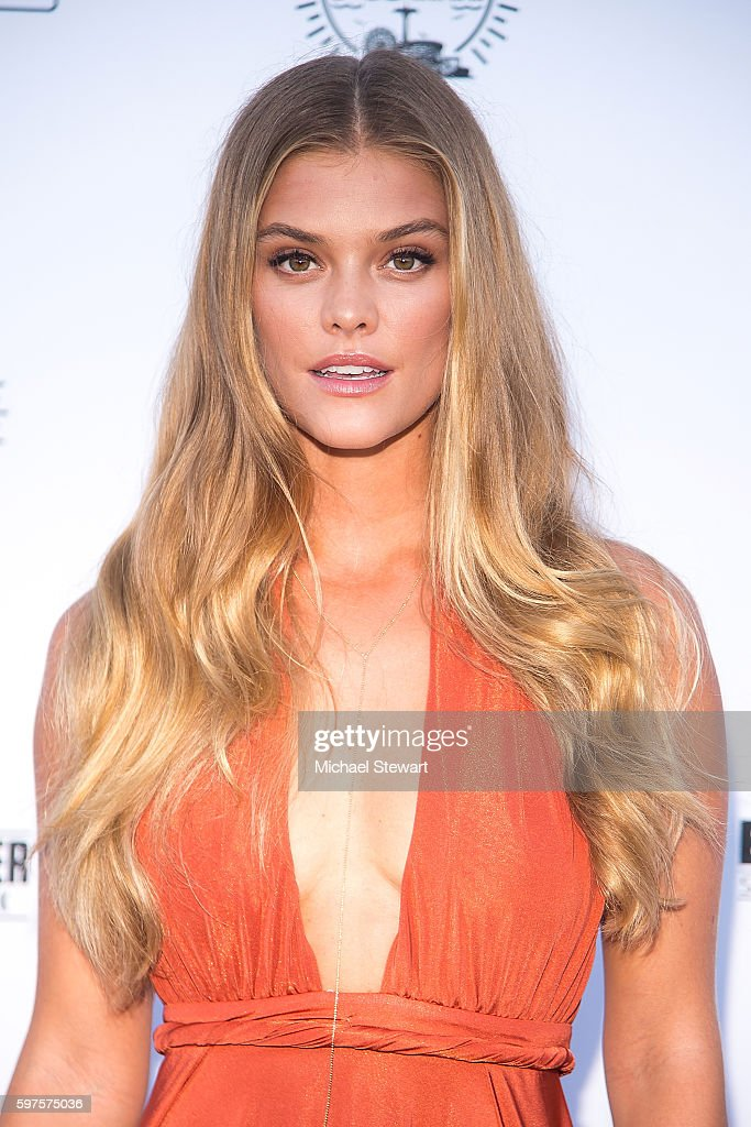 Model Nina Agdal attends the 2016 Sports Illustrated Summer of Swim Fan Festival Concert at the Ford Amphitheater at Coney Island Boardwalk on August...