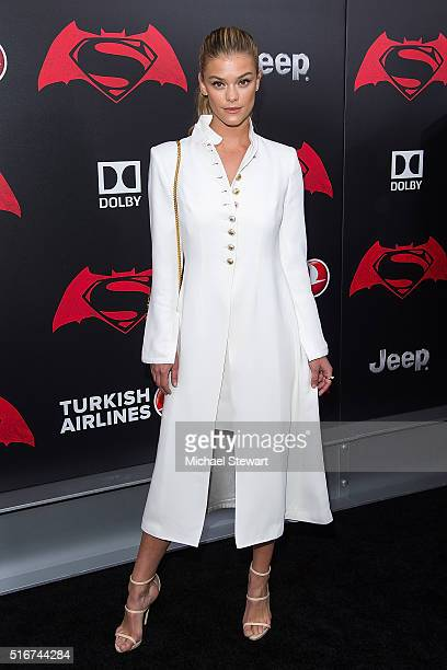 Model Nina Agdal attends the 'Batman V Superman Dawn Of Justice' New York premiere at Radio City Music Hall on March 20 2016 in New York City