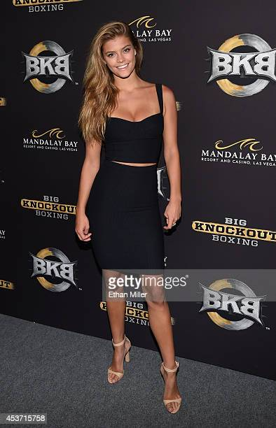 Model Nina Agdal attends the inaugural event for BKB Big Knockout Boxing at the Mandalay Bay Events Center on August 16 2014 in Las Vegas Nevada