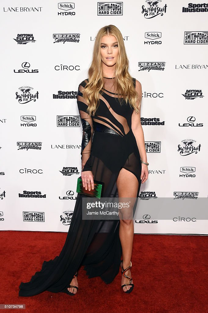 Model Nina Agdal attends the Sports Illustrated Swimsuit 2016 NYC VIP press event on February 16 2016 in New York City