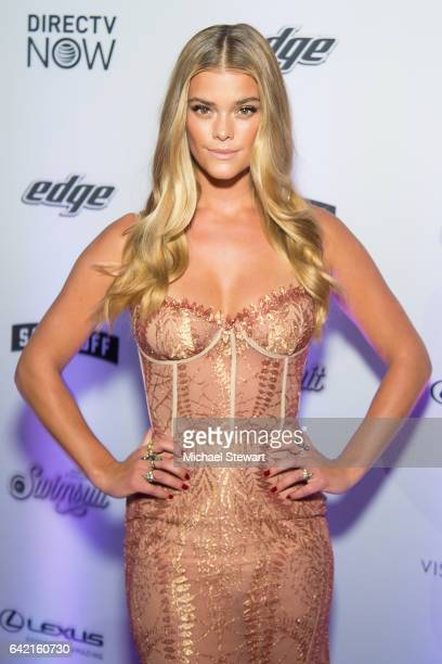 Model Nina Agdal attends the Sports Illustrated Swimsuit 2017 launch event at Center415 Event Space on February 16 2017 in New York City