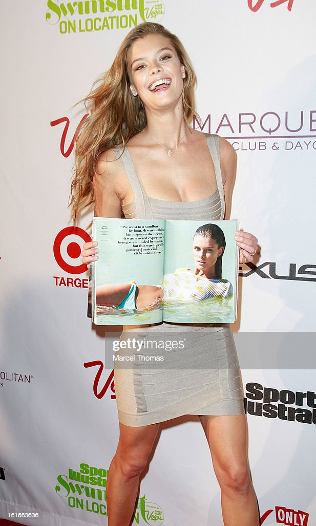 Model Nina Agdal attends the 'Sports Illustrated Swimsuit on Location' event at the Marquee Nightclub at The Cosmopolitan of Las Vegas on February 13, 2013 in Las Vegas, Nevada.