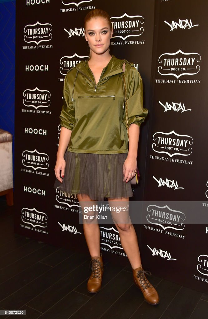 Model Nina Agdal attends the Thursday Boot Company Presentation at Vandal on September 13, 2017 in New York City.